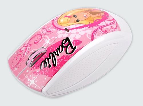 Modecom optická bezdrátová myš MC-619 ART Barbie style 1, USB, bílo-růžová