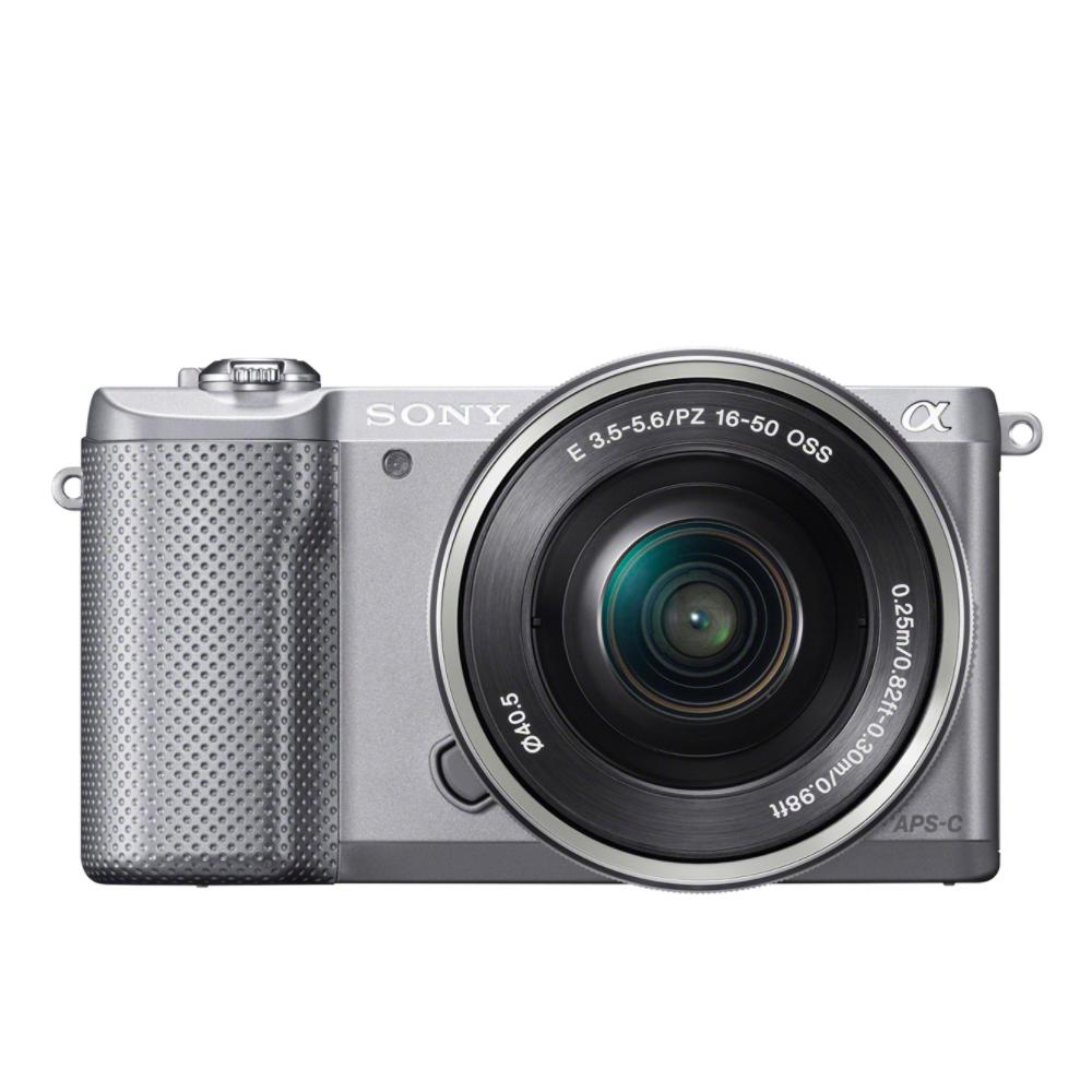 SONY ILCE-5000 Fotoaparát Alfa 5000 s bajonetem E + 16-50mm objektiv - Silver