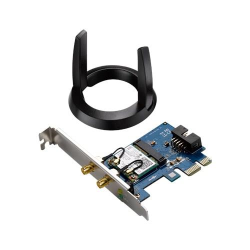 Asus PCE-AC55BT Wireless 802.11ac 2X2 Dual-band PCI-E card Bluetooth 4.0 and BLE