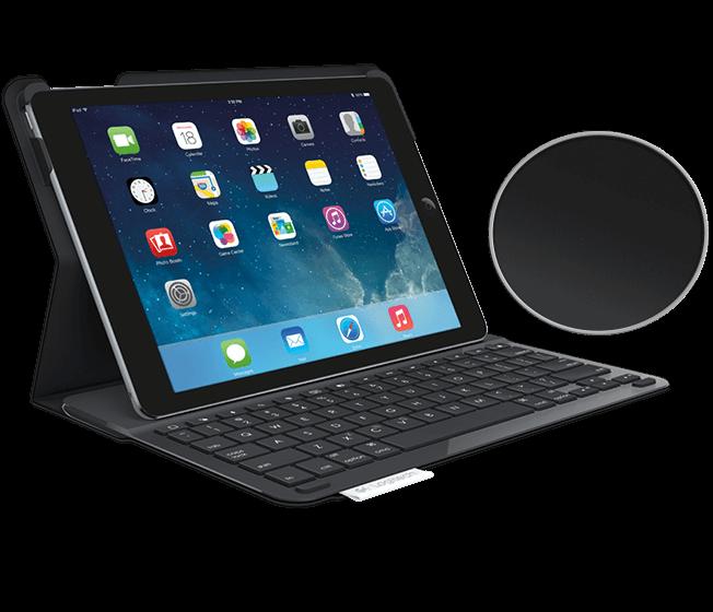 Logitech Type+ klávesnice Cover pro iPad Air 2 - karbonová černá