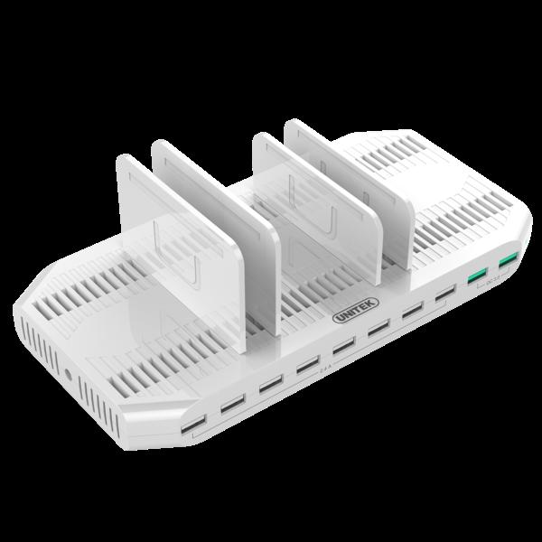 Unitek Y-2190A nabíjecí dokovací stanice 96W 10x USB 2.4A + 2x QC3.0