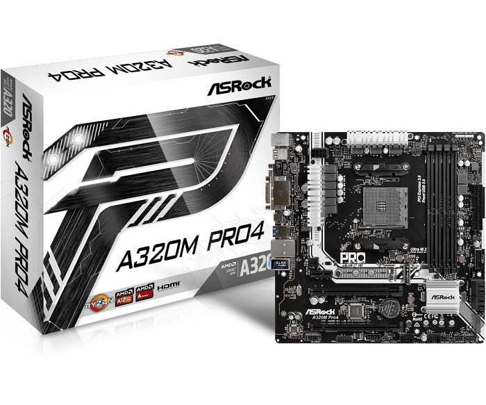 ASRock A320M PRO4, AM4, 4xSATA3, DDR4, USB 3.0