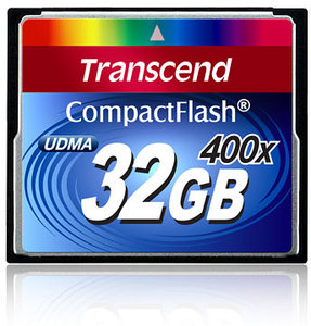 TRANSCEND Compact Flash Card (400x) 32GB (Premium)