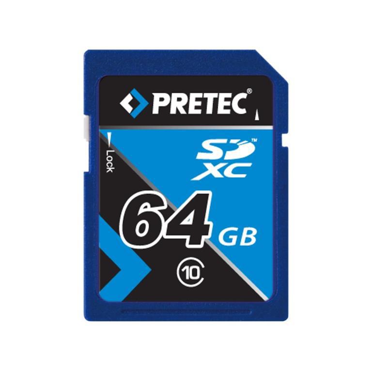 Pretec 64 GB SDXC, class 10 (33/21 MB/s)