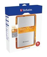 """Akce!!! VERBATIM HDD 2.5"""" Store 'n' Go 500GB USB 3.0, silver"""