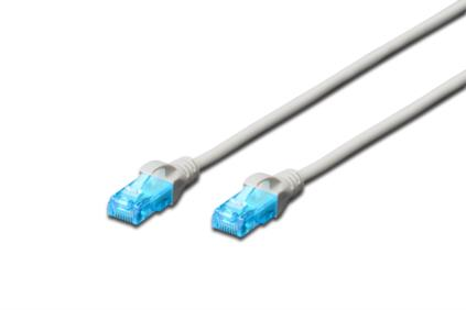 Digitus Ecoline Patch Cable, UTP, CAT 5e, AWG 26/7, šedý 7m, 1ks