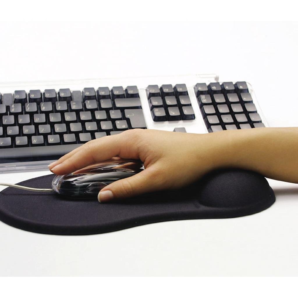 Sandberg podložka pod myš, gelová, podpěra zápěstí, černá