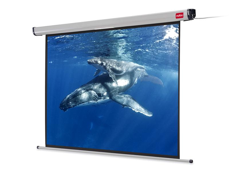 Elektrické projekční plátno NOBO, 192x144cm (4:3), ?240cm