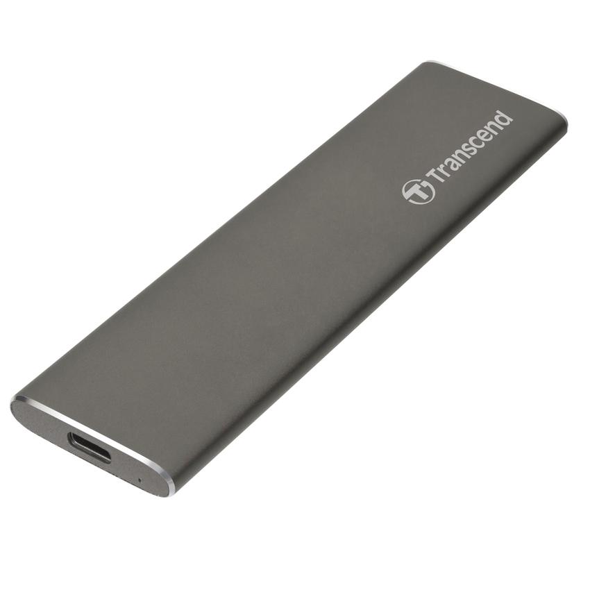 Transcend StoreJet 600, 240GB, USB-C, Externí SSD disk, vesmírně šedý