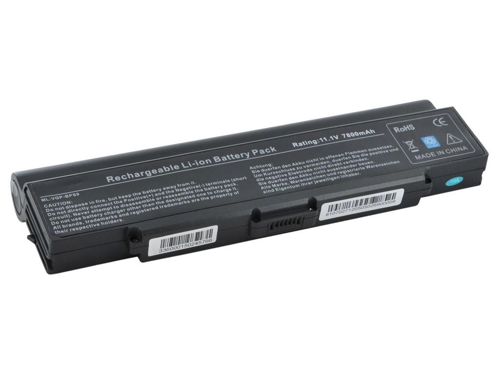WE HC baterie Sony BPS9/BPL9 11.1V 7800mAh černá