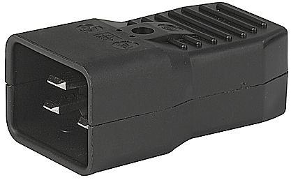 PREMIUMCORD Konektor napájecí 230V na kabel (samec, IEC C20)