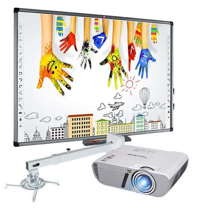 SET: Avtek TT-BOARD 80 Pro + ViewSonic PJD5353Ls + WallMount Next 1200