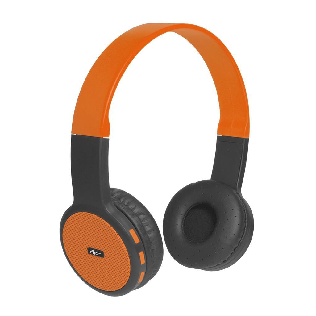 ART Bluetooth Headphones with microphone AP-B05 black/orange