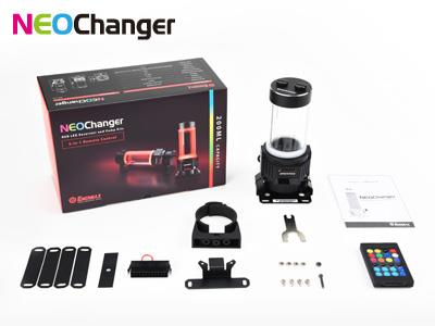 Enermax NEOChanger 200ml RGB LED Reservoir and Pump Kits with Remote Control