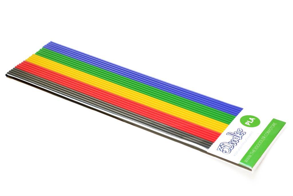 3DOODLER Filaments PLA to the 3Doodler Create, PRO, 2.0&1.0 BLK/RED/YEL/GRN/BLU