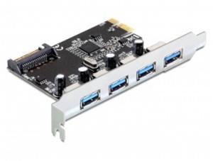 Delock PCI Express Karta > 4 x externí USB 3.0