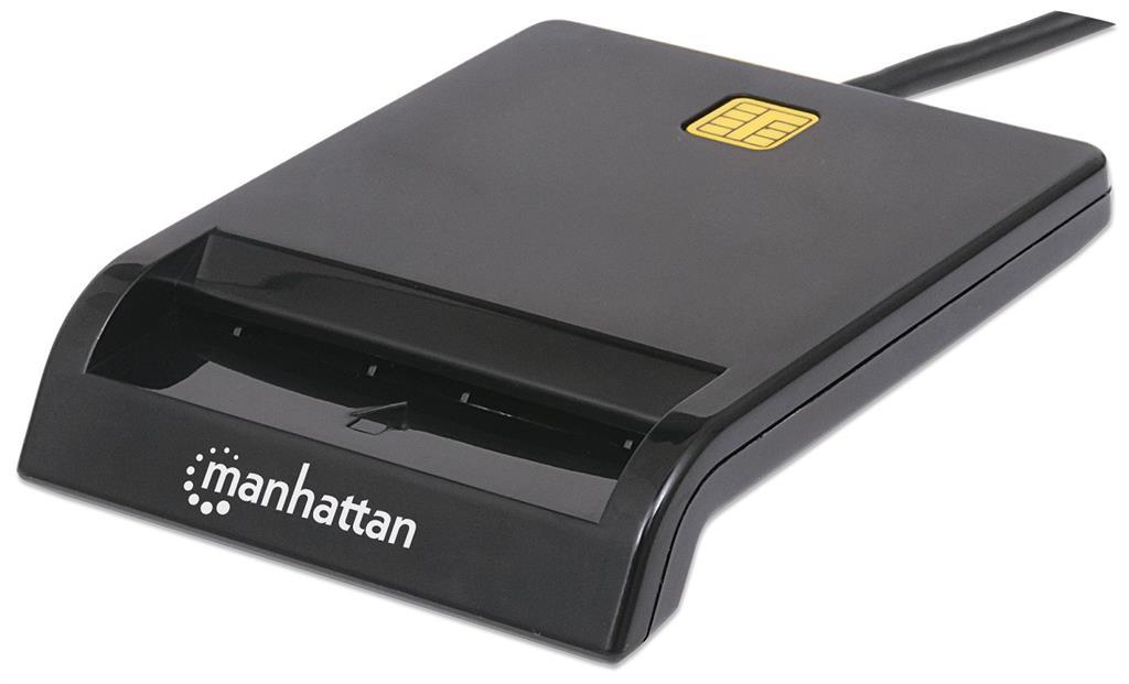 Manhattan Smart externí USB čtečka karet, USB 1.1, bílá
