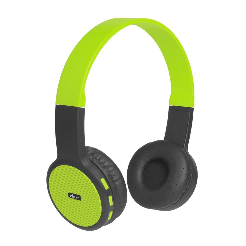 ART Bluetooth Headphones with microphone AP-B05 black/lime