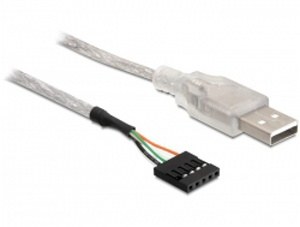 Delock kabel USB 2.0-A samec na pinový konektor