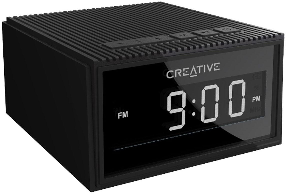 CREATIVE CHRONO Wireless speaker alarm clock,black