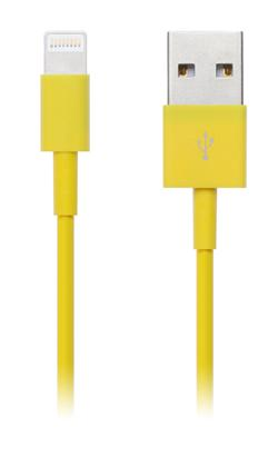 CONNECT IT Wirez COLORZ kabel Apple Lightning - USB, 1m, žlutý