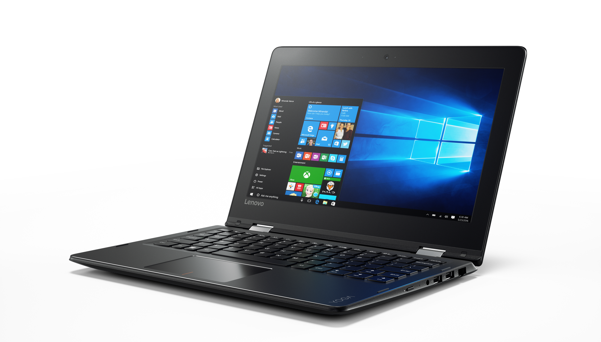 "Lenovo YOGA 310-11IAP Celeron-QC N3450 2,20GHz/4GB/32GB/11,6"" HD/IPS/AG/multitouch/WIN10 černá 80U20067CK"