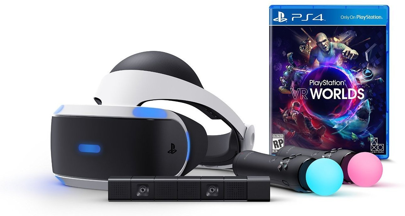 SONY PS4 PlayStation VR + Move Twin Pack + Eye Camera V2 + VR Worlds