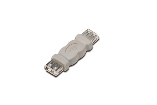 Delock USB Adapter, USB A černý samice/samice (spojka)