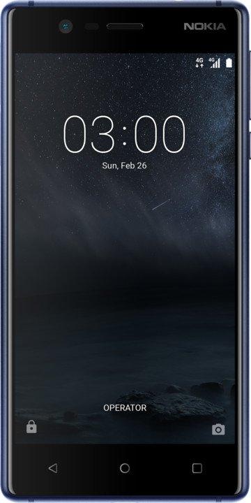 Nokia 3 Single SIM Tempered Blue