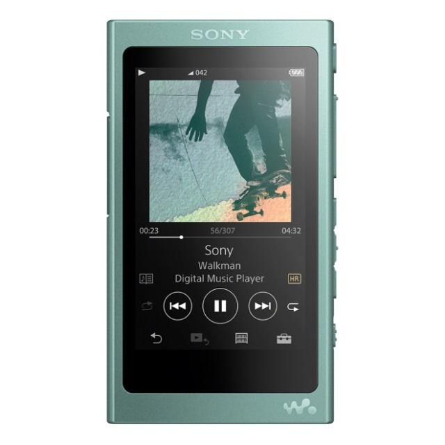 SONY NW-A45G Přehrávač Walkman se zvukem s vysokým rozlišením, BLUETOOTH, S-Master HX, dotyková obrazovka , 16GB, Green