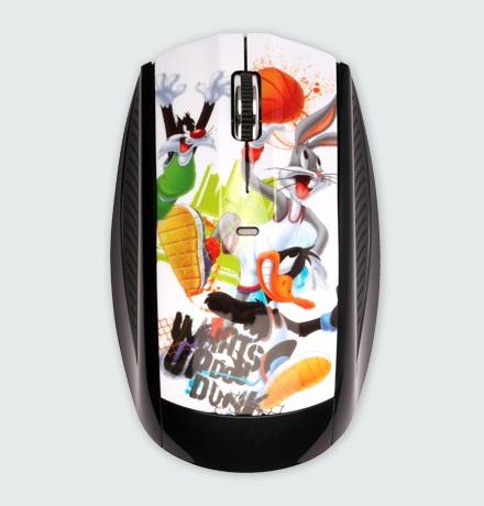 Modecom optická bezdrátová myš MC-619 ART Looney Tunes 1 style, USB, černá