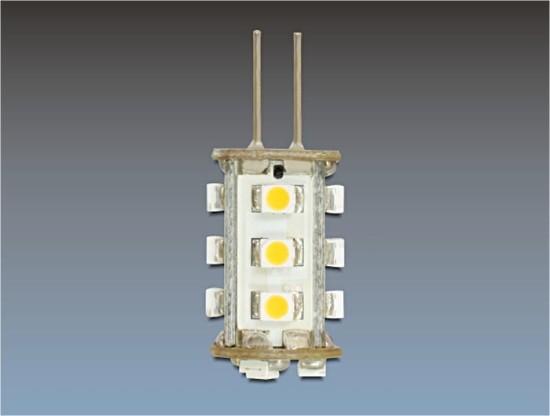 Delock LED žárovka G4 15x SMD 1,2W piny ze strany, teplá bílá
