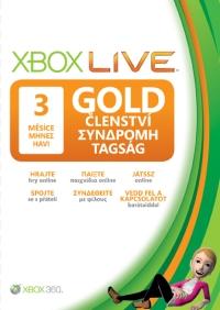 XBOX LIVE Gold karta 3 měsíce