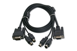 Digitus Octopus cable VGA, PS/2 Mouse, PS/2 Keyboard 1,8m