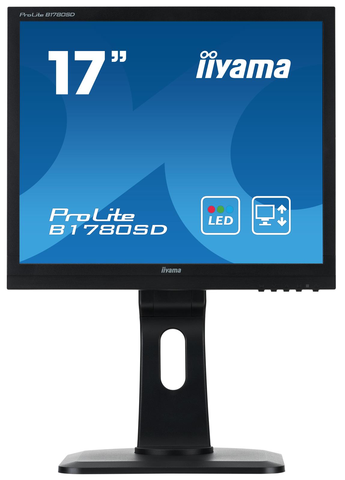 "17"" LCD iiyama Prolite B1780SD-B1 - 5ms,250cd/m2,1000:1,5:4,VGA,DVI,repro,pivot,výšk.nastav.,černý"