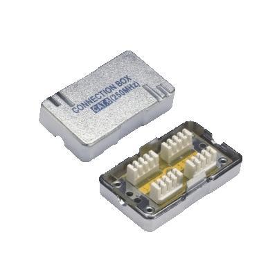 Spojovací BOX STP CAT.6 (2* zářez. pole) Silver