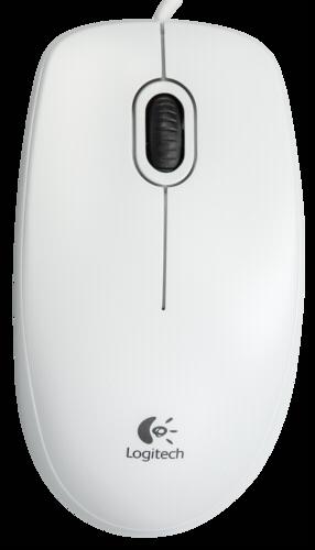 Myš Logitech B100 bílá