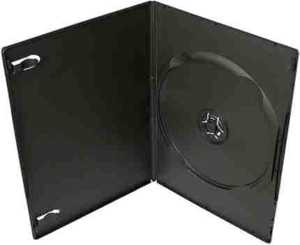COVER IT Krabička na 1x DVD - černá - slim 7mm