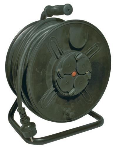 Emos prodlužovací buben - 4 zásuvky, 50m, 1.5mm, guma, IP44