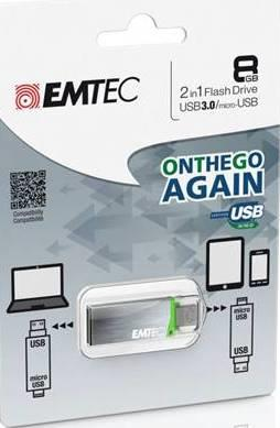 EMTEC Serie T203 8GB USB3.0/ microUSB OTG flashdisk |Android|Windows Phone |