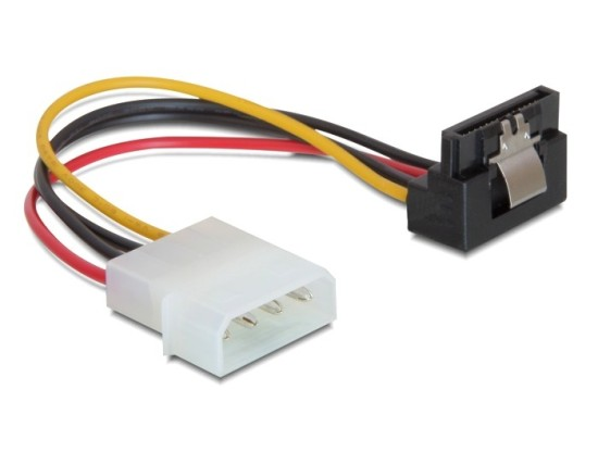 Power Adapter Molex na 1x SATA 15-pin kolmý dolů, kovová západka