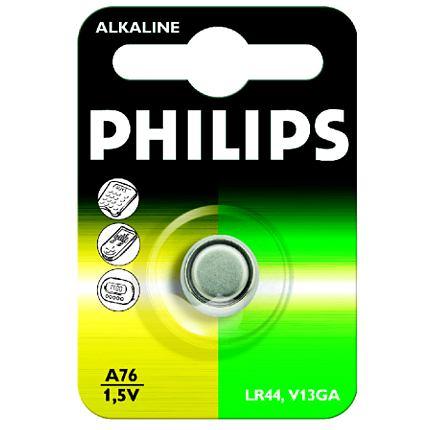 Philips baterie knoflíková A76, alkalická - 1ks