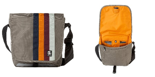 Crumpler Dinky Di Sling M - dusty khaki/pumpkin orange