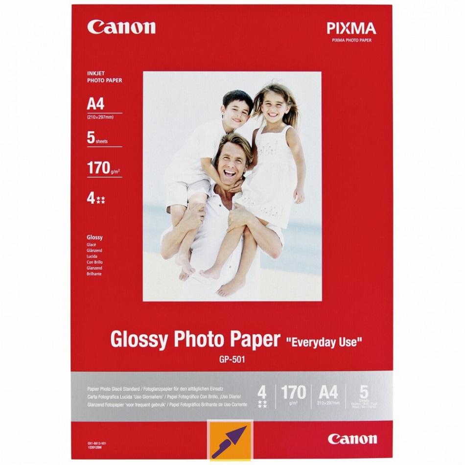 Canon GP-501, 10x15 fotopapír lesklý, 5 ks, 210g