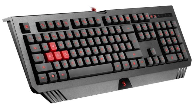 A4tech Bloody B120 podsvícená herní klávesnice, USB,7 multimed. kláv. CZ