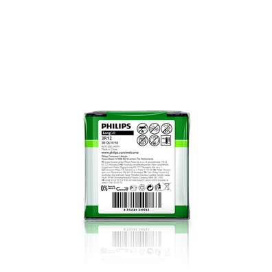 Philips baterie 4,5V LongLife zinkochloridová - 1ks