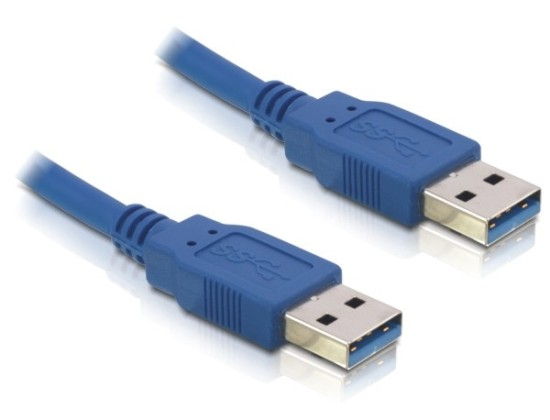 Delock Cable USB 3.0 type A male > USB 3.0 type A male 3m blue