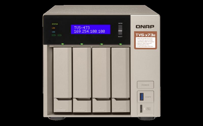 QNAP TVS-473e-4G (2,1 GHz/4GB RAM/4xSATA)