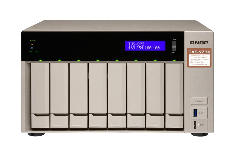 QNAP TVS-873e-8G (2,1 GHz/8GB RAM/6xSATA)