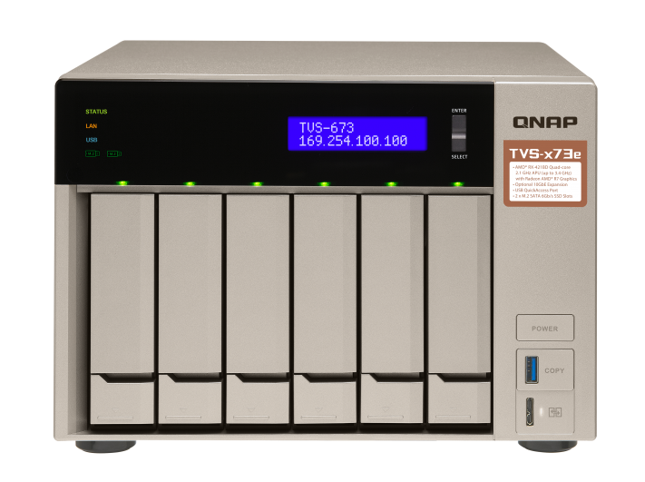 QNAP TVS-673e-4G (2,1 GHz/4GB RAM/6xSATA)